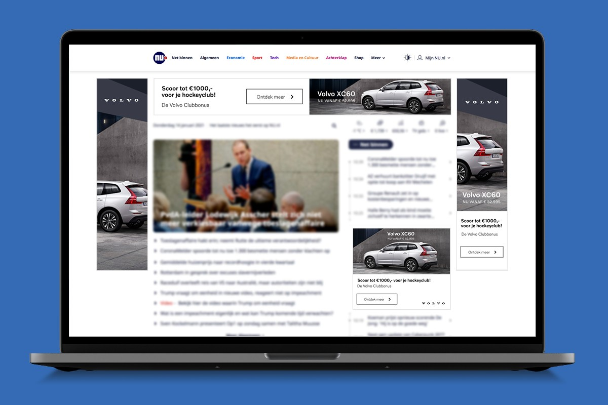 Display advertising for Volvo Cars
